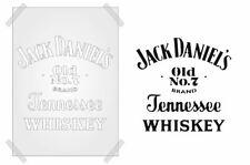 JACK DANIELS STENCIL template 190mic Mylar WALL FAN ART MAN CAVE REUSEABLE