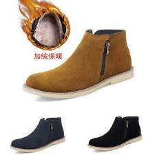 38-47 Mens Pumps Fur Inside Warm Faux Leather Work Business Ankle Boots Shoes L