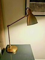WEST ELM Modern Adjustable Desk/Bedside Lamp in Beautiful Antique Brass