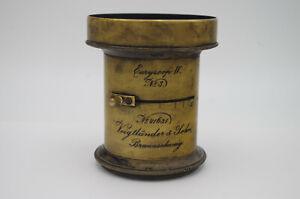 Antique lens brass Euryscop IV #3 Voigtlander, #41631