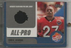 2000 Topps All Pro Eddie George Pro Bowl Jersey Titans