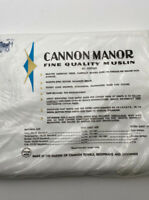 New Vintage Cannon Manor Muslin White DOUBLE  Flat Sheet ~ 100% Cotton