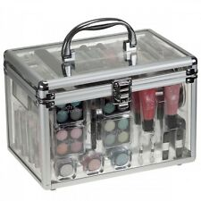 NEW 36 PIECE VANITY CASE BEAUTY COSMETIC SET GIFT TRAVEL MAKE UP CARRY BOX