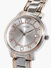 AUTHENTIC GUESS LADIES' KISMET WATCH SILVER & ROSE TONE 0929L3 RRP:$399 NIB