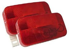Pair of J-90 Bargman 34-92-003 9x5 Red Stop Tail Turn Lamp Light Trailer Camper