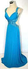 NWT HAILEY LOGAN $170 Turquoise Prom Party Gown 13