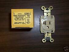 HUBBELL SINGLE RECEPTACLE 20A-125V AC OR DC 3W # 5361-I