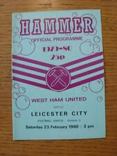 23/02/1980 West Ham United v Leicester City (No Apparent Faults)