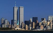THE TWIN TOWERS NEW YORK A4 POSTER PRINT
