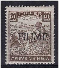 1918 FIUME RIJEKA MIETITORI 20 filler n° 10/I-II NUOVO MLH* E PERFETTO € 600,00