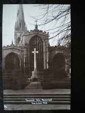 POSTCARD RP NOTTINGHAMSHIRE NEWARK - WAR MEMORIAL