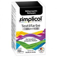(4,13 €/100g)Simplicol Textilfarbe expert Mitternacht-Schwarz Mischgewebe cotton