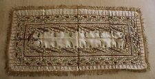 Very Rare Handcrafted Egyptian Silk, Cloth Backed, Brought Back during WW1 1916