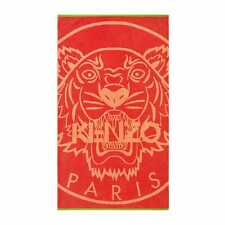 Kenzo Tiger Logo Orange Red Beach Towel
