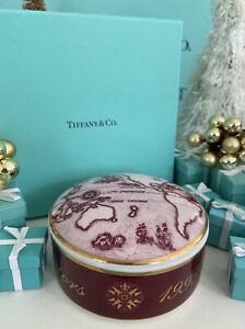 "Tiffany&Co. Cunard Royal Viking Trinket Box Voyage Of The Navigators 1995 4""x2"""