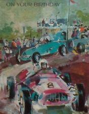 Vintage Birthday Card - Race Cars - #8 - Winner - 1971 - Forget me not