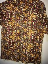 VINTAGE TRIBAL MENS BATIK SHIRT SZ S