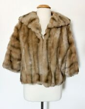 Vintage Sears Faux Fur Stole Cape Shrug Wrap Coat Small **no size tag**
