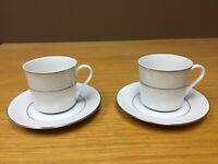 Japan SOUTHWICKE Cups & Saucers (2 Sets) - Excellent
