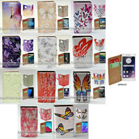 For OPPO Series - Butterflies Theme Print Flip Case Wallet Mobile Phone Cover