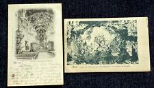 Trier - Paulinuskirche: 2 historische Ansichtskarten von 1898 und um 1900
