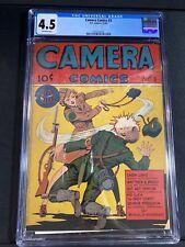 CAMERA COMICS 3 CGC 4.5 SCARCE WW II COMIC 1944 OW PAGES