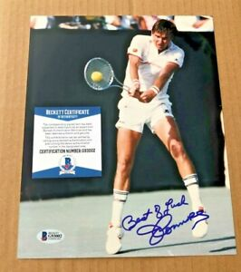 JIMMY CONNORS SIGNED 8X10 TENNIS PHOTO BECKETT CERTIFIED