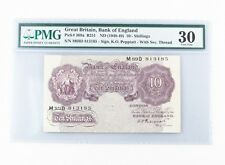 1948-49 Great Britain, Bank of England 10 Shillings Graded by PMG VF-30 P# 368a