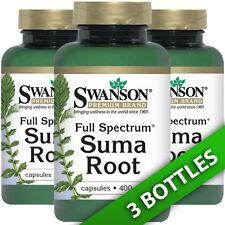 Suma Root 400 mg (Brazilian Ginseng) - 3X60 Caps (Pfaffia paniculata) by Swanson