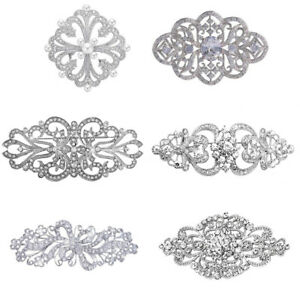 Diamante Shiny Vintage Style Prom corsage Wedding Table Hair Decoration Brooches