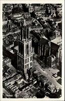 Utrecht Niederlande s/w AK ~1950/60 Blick auf den Dom Luftaufnahme ungelaufen