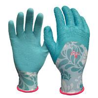 Digz  Women's  Indoor/Outdoor  Latex  Gardening Gloves  Blue  L  1 pk