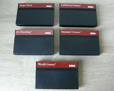 5 SEGA Master System game cartridges (SMS)