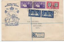 1947 South Africa Cover with 3 pairs from Royal Visit w/ Pretoria Registry Stamp