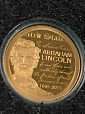 2015 Mongolia 1000 Tugrik (Togrog) LINCOLN 150th Anniversary GOLD Proof .5 gram