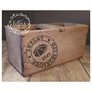 A5 STENCIL Shelby Brothers  PEAKY BLINDERS STAMP Furniture Vintage Crate Crafts