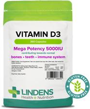 La vitamina D3 5000IU Ossa Denti supporto immunitario 360 Capsule 6344