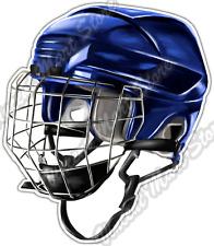 "Ice Hockey Helmet Mask Sport Equipment Puck Car Bumper Vinyl Sticker Decal 4""X5"""