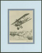 Nieuport Two-Seater - Vintage Collotype Print by Howard Leigh - Ready to Frame