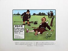 Charles Crombie Rules Of Golf Perrier Illustration Rule IV First Edition 1940's