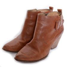 Frye Booties Brown Leather Side Zip 7.5M