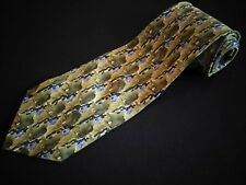 New J Garcia Tie California Mission Coll 19 Green Blue Abstract Vintage Jerry