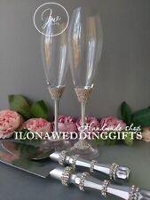 Swarovski Crystal Personalized Wedding Toast Glass Bling Sparkle Elegant Luxury