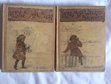 1886 1ST ED RARE 2 LITTLE MISS WEEZY'S BROTHER SISTER CHILDREN BOOK PENN SHIRLEY