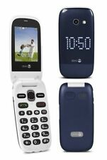 NEW** DORO 632** BLUE-WHITE BIG BUTTON UNLOCKED CAMERA 3G PHONE EASY TO USE