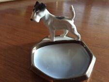 Filigrane Porzellanschale mit Hund aus der Manufaktur Pfeffer Gotha