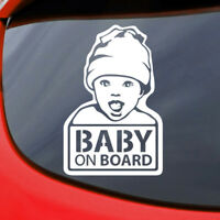 Baby on Board Car Sticker Decal Vinyl Window Funny Safety Sign Smile Bumper Cute