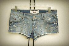 NWT Hollister Size 5 Twinkle Star Boho Hippie Chic Hot Mini Denim Short Shorts