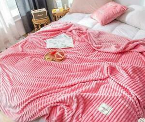 Comfort Classics Soft Coral Fleece Flannel Plush Blanket Throws Queen King Size