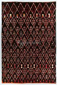 Contemporary Moroccan Beni Ourain Wool Rug, Custom Options Available